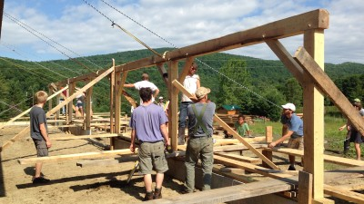 Heartbeet barn raising