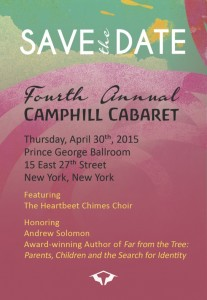 Save the Date - 4th Annual Camphill Cabaret! @ Prince George Ballroom | New York | New York | United States