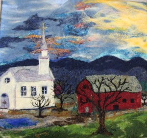 Church and Barn by Annie Jackson